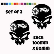 Yamaha R6  Skull Stickers Car Motorbike Vinyl Decals
